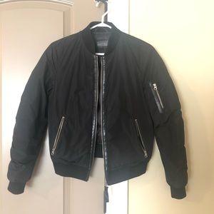 Aritzia Mackage Black XS Bomber Jacket